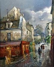 Paris Le cabaret du tire bouchon à Montmartre.