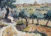 47-Horta de Sant Joan, acrílico sobre tela 81x116 cm..