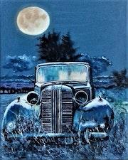 Bleu nuit.