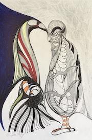 Le poète et l'oiseau  Royal. Claude Valery