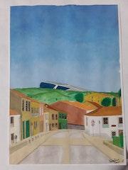 Santiago de compostela watercolor. Salvatore Angelotti
