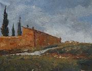 65-Pallargues, óleo sobre tela 73x92 cm.