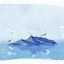Four Seagulls at Dawn - digital ink. Fairy Tales