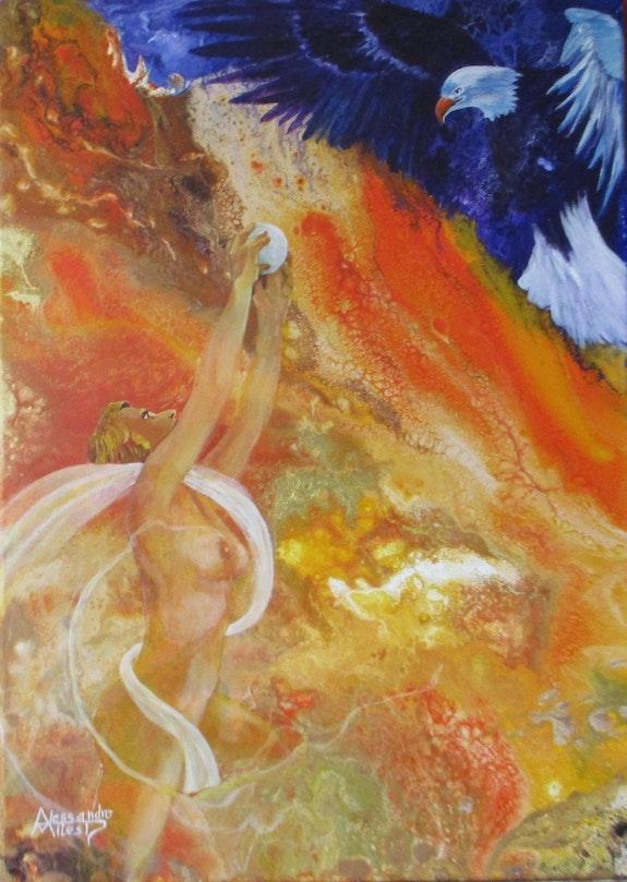 Hébé qui donne le nectarà Zeus. Alessandro Milesi Alexandre Milesi
