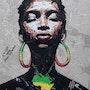 Sisay Teshome - Afro girl, 2021. Transafrik Art Galerie