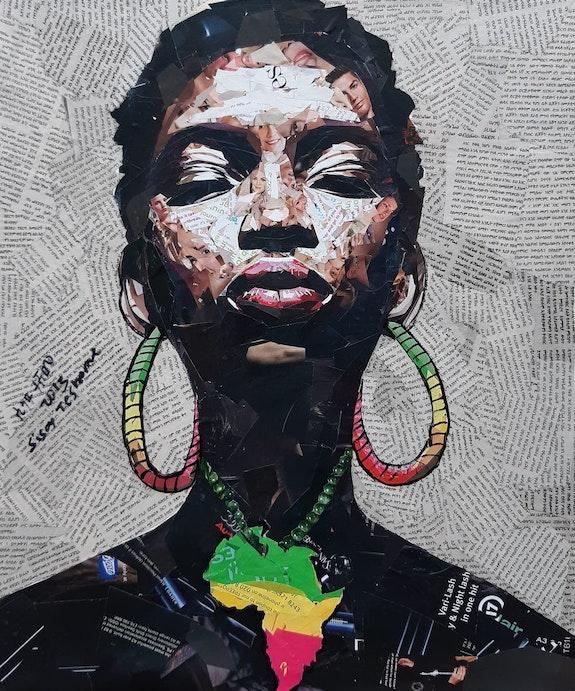 Sisay Teshome - Afro girl, 2021. Sisay Teshome Transafrik Art Galerie