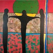 Merikokeb Berhanu -Untitled IX (Black Trinity), 2009.