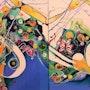 O Dimineata Marina, abstract artwork, acrylic painting, deco home. Mariana Oros