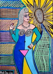 Feminist artists from Israel painter artist modern art paintings and drawings.
