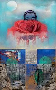 Portrait de Dali dans une rose. Ferrokaro