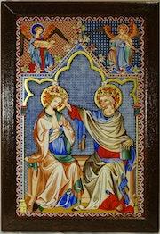 Couronnement de la Vierge de Jean Pucelle 1300-1350. Jean-Claude Geslain