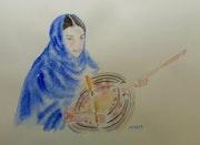 L amzad, violon dédié aux femmes touaregs. Yokozaza