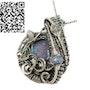 Australian Opal Wire-Wrapped Pendant with Ethiopian Welo Opals. Heather Jordan Jewelry