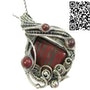 Tiger Iron Pendant, Wire-Wrapped with Red Jasper. Heather Jordan Jewelry