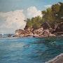 Plage Ferry. M. Machin