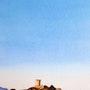 Coucher de soleil sur la tour de Figari. Claude Beretti
