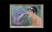 Portrait de Maxime avec le dauphin.