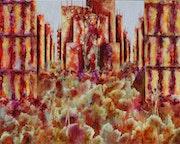 Bouillonnement… Thème urbain. Anne Sophie Artiste Peintre Nantes