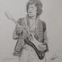 Jimi Hendrix Drawing. Charlesedwardsgalleries