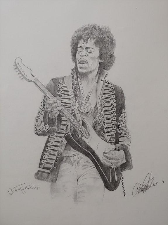 Jimi Hendrix Drawing. Charles A Edwards Charles Edwards