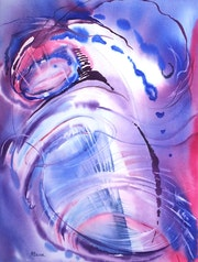 Painting-Abstraction-Watercolor «Twister ii».