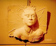 Tête en plâtre - Bas-Relief 1990.