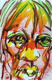 Eleonore, Portrait Rapide Encres 2018.