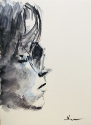 Watercolor Portrait Study 2021 #5.
