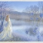 The Lady of the Lake - a Misty Winter Dawn.