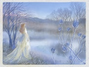 The Lady of the Lake in a Misty Winter Dawn - (Fairytale Book).