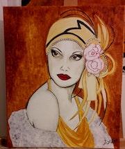 Femme des années folles «l'élégante». Lydie Frances-Ingles