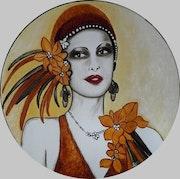 Dame élégante des années 1930. Lydie Frances-Ingles