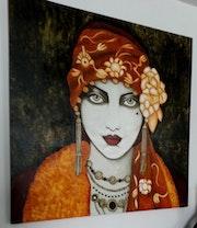 Jeune Tzigane des années 1930. Lydie Frances-Ingles