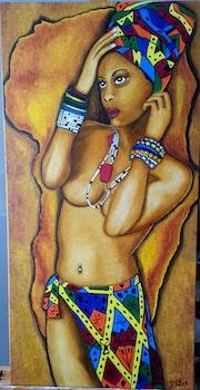 Couleur d'Afrique » La gazelle». Lydie Frances-Ingles