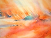 Peinture-Abstraction-Aquarelle'Fusion matinale». Annick Richard-Keller