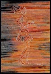 Danse du plaisir, art en lignes.