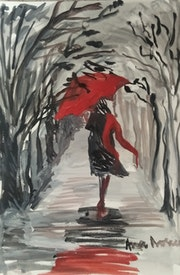 El paraguas rojo.