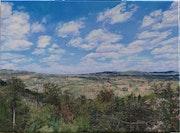 «Roussillon en Morvan, vu de la route du Mizieux.