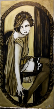 Femme 1930 (Porte-jarretelles). Lydie Frances-Ingles