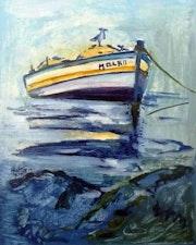 Barque en mer.