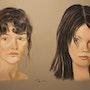 Deux femmes. Pastelpat