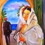 Femme voilé. Dar El Amen Galerie d'art