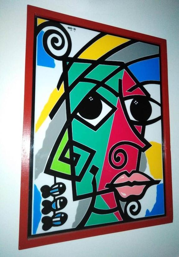 Signature renversé. Snene Hamadi Dar El Amen Galerie d'art
