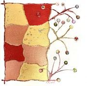 Peinture abstraite acrylique décorative Brisquonya.
