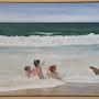Trois enfants dans l'eau. Daguais