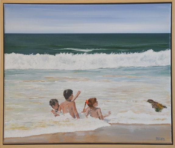 Trois enfants dans l'eau. Daguais Daguais