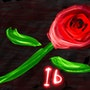 Ib red rose. Allen Walker
