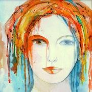 Peinture-Portrait-Aquarelle. Annick Richard-Keller