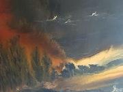 Le feu sublimisse la nuit. J. Faure