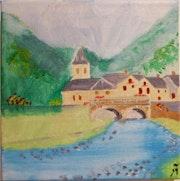 Village béarnais. Michel Petit